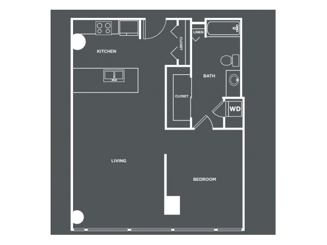 A21   1 bed 1 bath   from 830 square feet