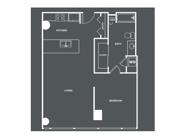 A21-R   1 bed 1 bath   from 830 square feet