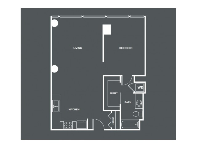A3   1 bed 1 bath   from 767 square feet