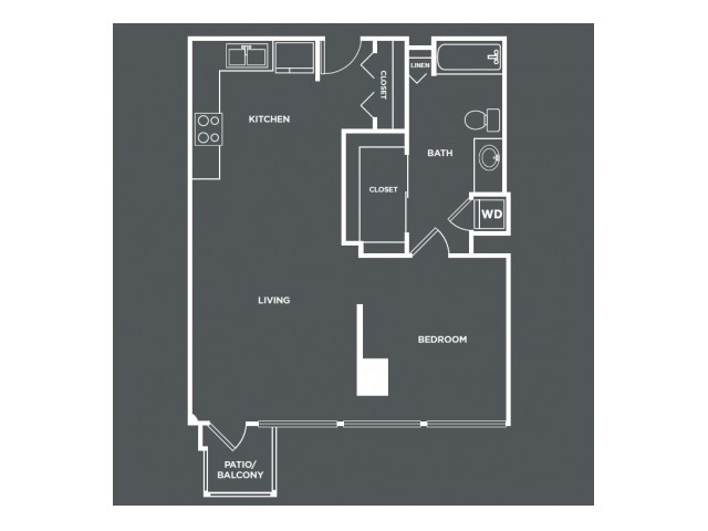A3PH   1 bed 1 bath   from 767 square feet
