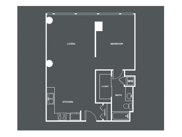 A3-R   1 bed 1 bath   from 767 square feet