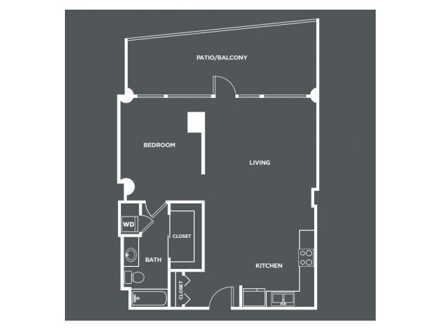 A4-R   1 bed 1 bath   from 807 square feet