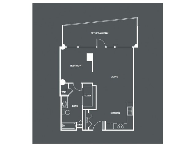A5-R   1 bed 1 bath   from 866 square feet