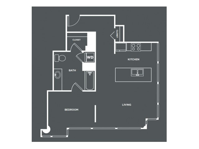 A6   1 bed 1 bath   from 780 square feet