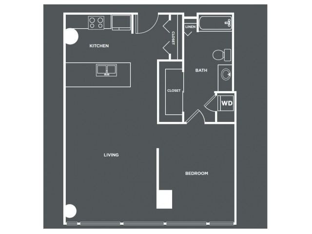 A8   1 bed 1 bath   from 830 square feet