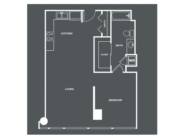A9   1 bed 1 bath   from 812 square feet