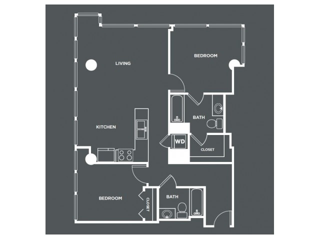 B1   2 bed 2 bath   from 1036 square feet