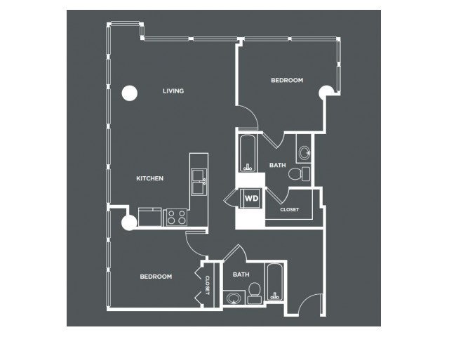 B1PH   2 bed 2 bath   from 1071 square feet