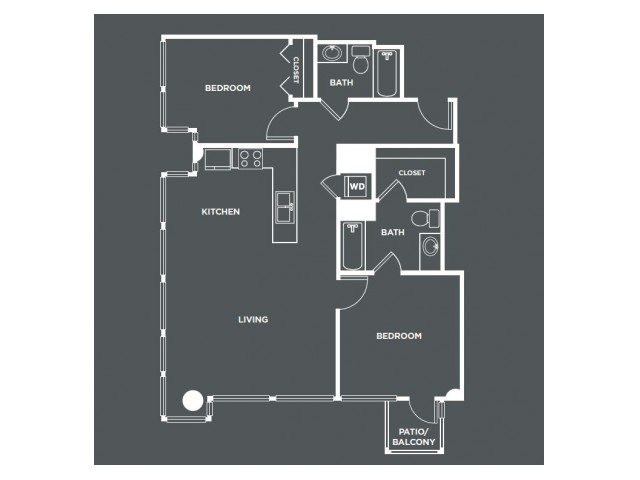 B1-R   2 bed 2 bath   from 1036 square feet