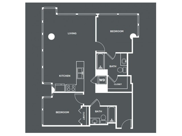 B2   2 bed 2 bath   from 1071 square feet