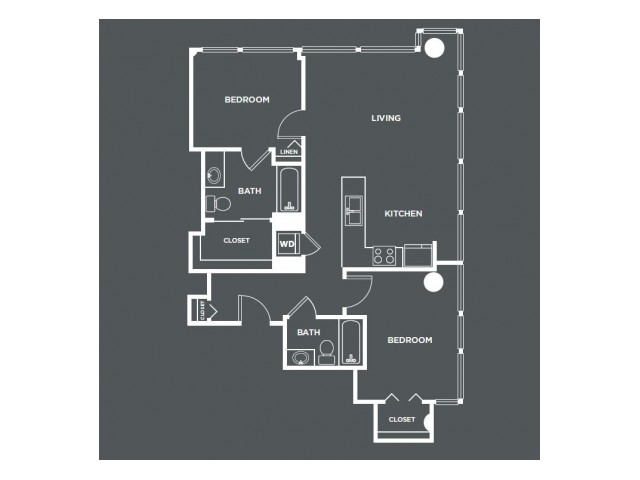 B3   2 bed 2 bath   from 1021 square feet