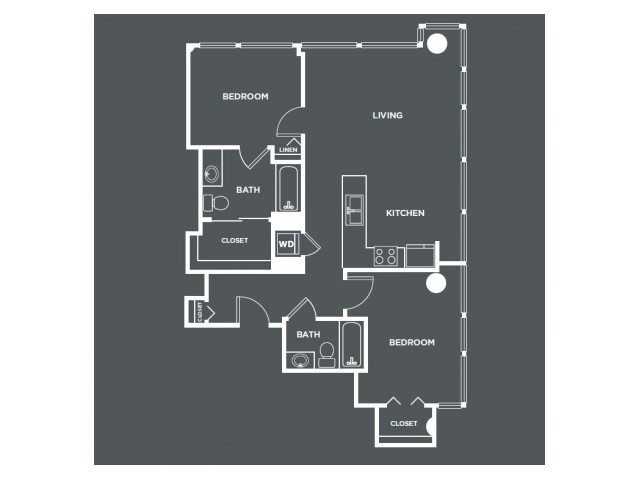 B3-R   2 bed 2 bath   from 1021 square feet