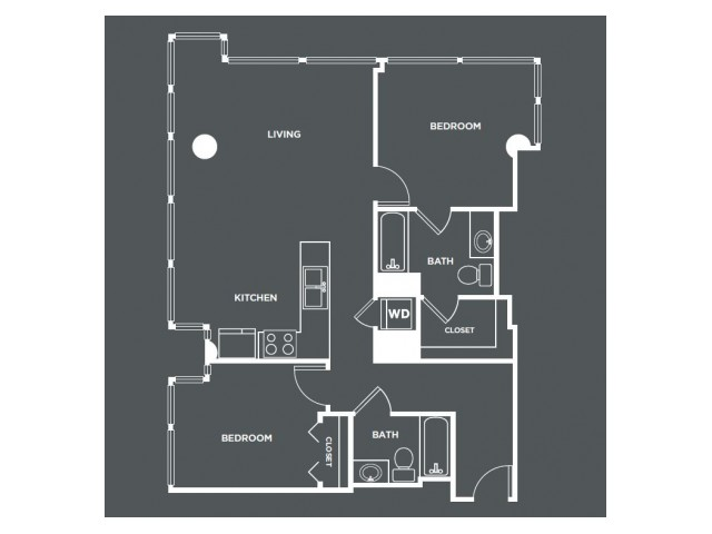 B4   2 bed 2 bath   from 1059 square feet