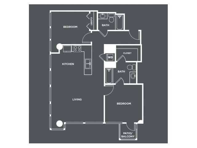B5-R   2 bed 2 bath   from 1049 square feet