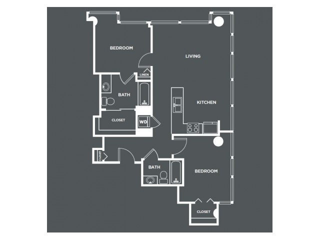 B6   2 bed 2 bath   from 1034 square feet