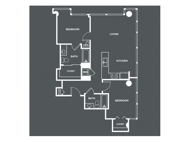 B6-R   2 bed 2 bath   from 1034 square feet