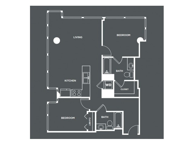 B7-R   2 bed 2 bath   from 1015 square feet