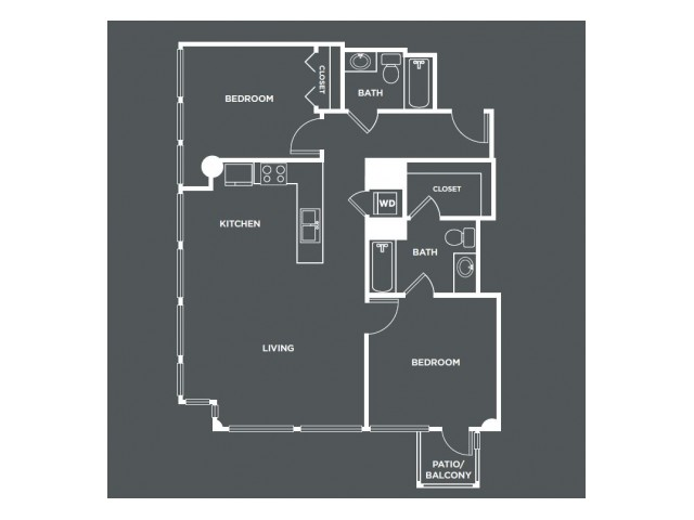 B9   2 bed 2 bath   from 1019 square feet