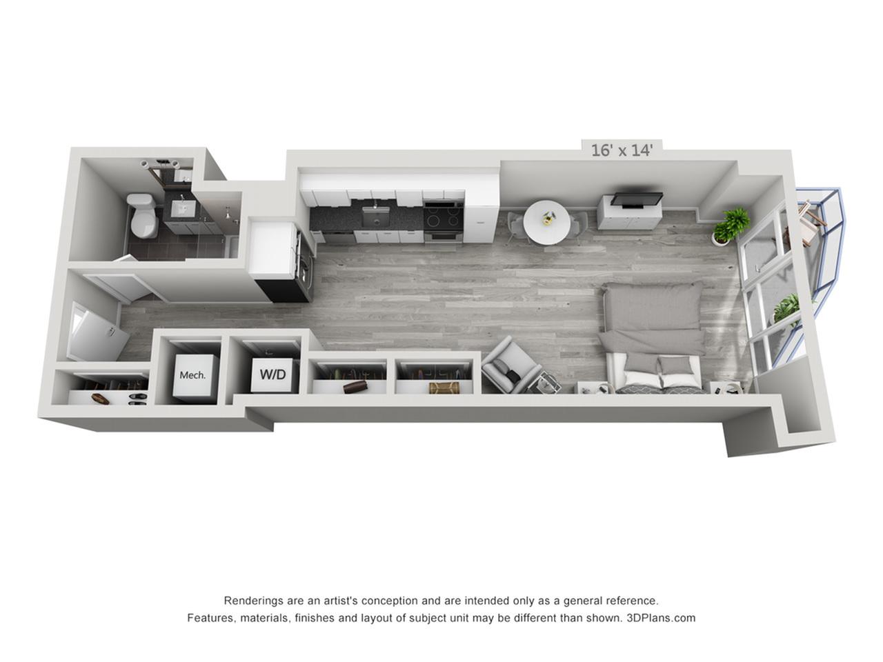S4 | Studio1 bath | from 575 square feet