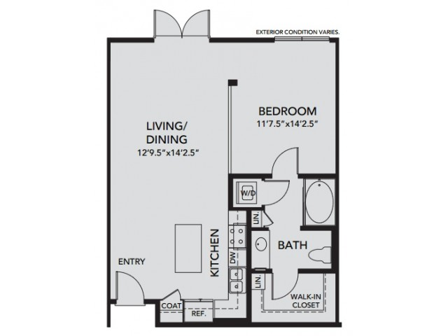 Plan A1 | 1 bed 1 bath | from 762 square feet