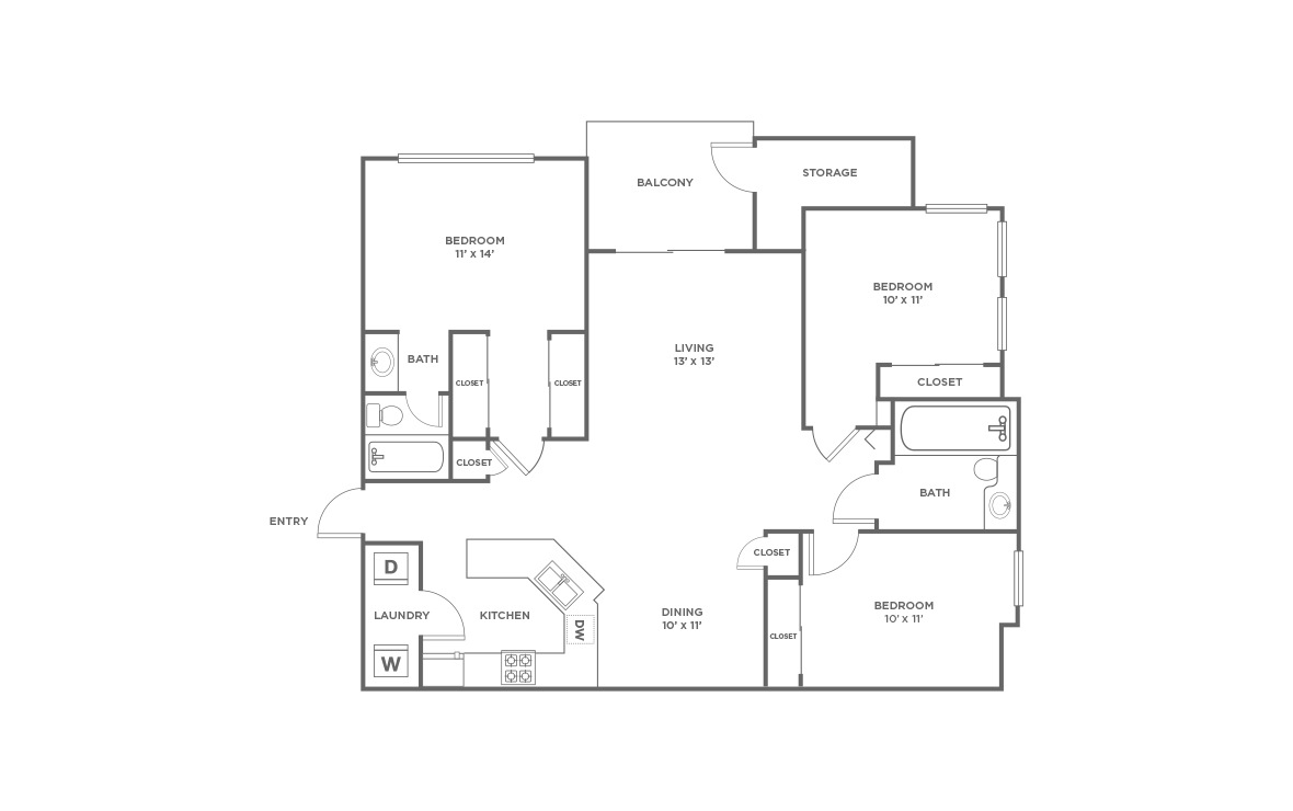 C1 | 3 bed 2 bath | from 1355 square feet