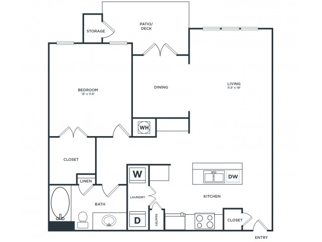 A3 | 1 bed 1 bath | from 909 square feet