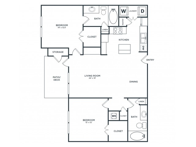 B1 | 2 bed 2 bath | from 1165 square feet