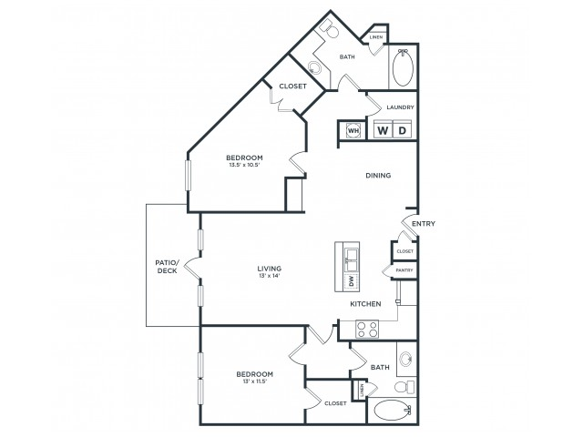 B3 | 2 bed 2 bath | from 1256 square feet