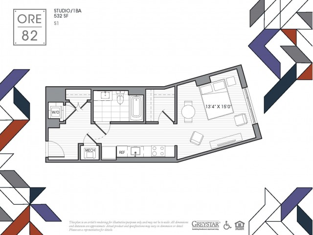 S1 | Studio1 bath | from 532 square feet