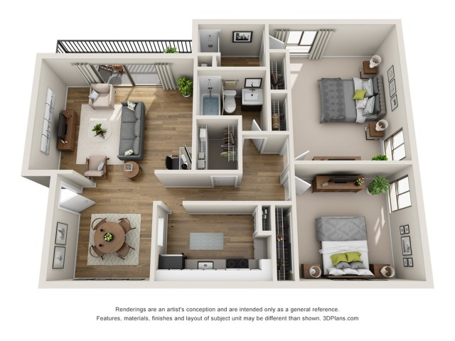 B1 Classic | 2 bed 2 bath | from 1100 square feet