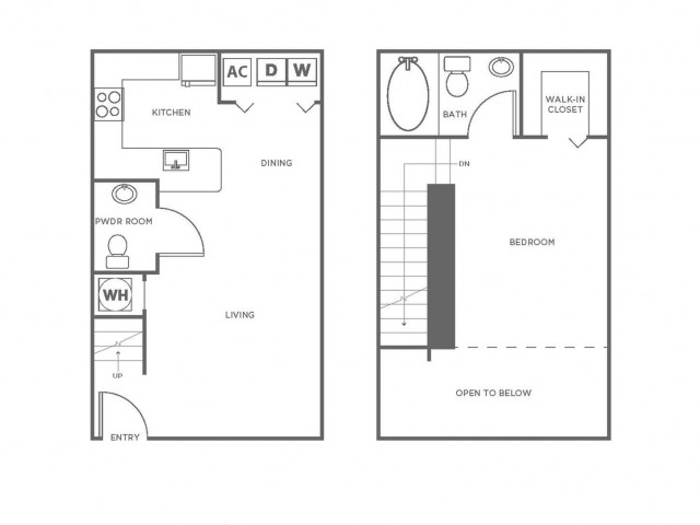 A5 | 1 bed 2 bath | from 839 square feet