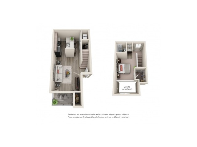 1x1L | 1 bed 1 bath | from 750 square feet