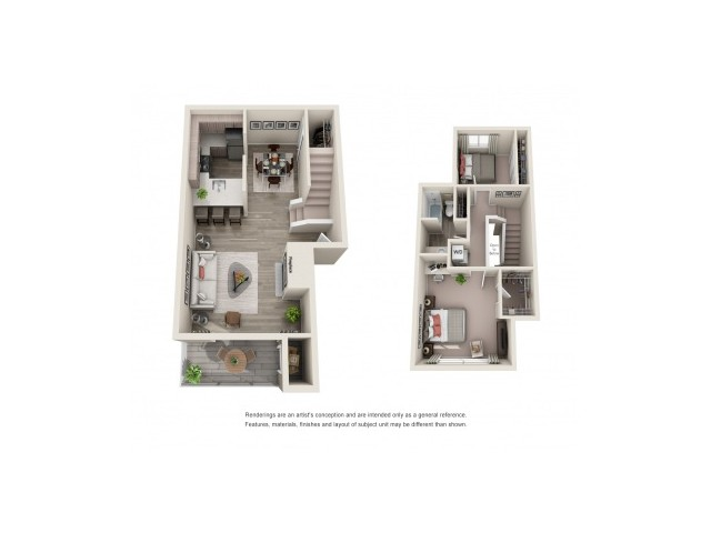 2x1TH | 2 bed 1 bath | from 1015 square feet