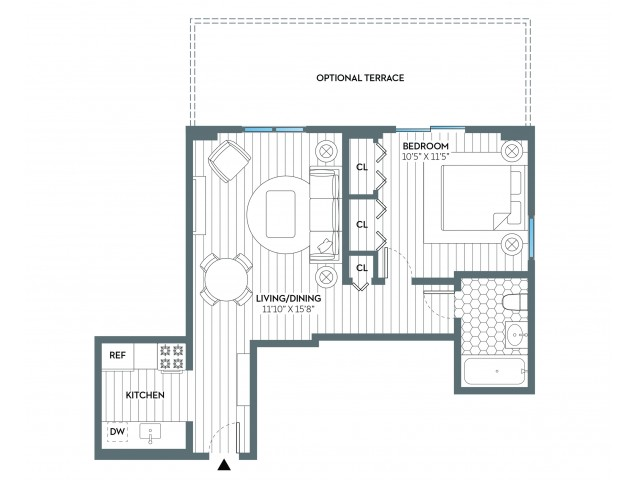 Paterson | 1 bed 1 bath | from 583 square feet