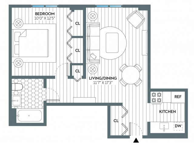 Madison | 1 bed 1 bath | from 609 square feet