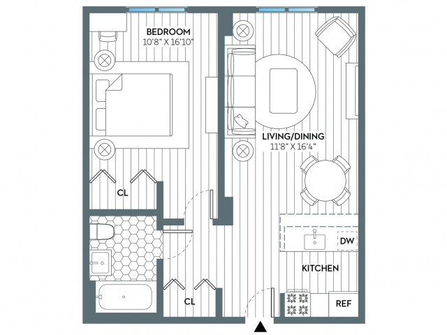 Newark | 1 bed 1 bath | from 611 square feet