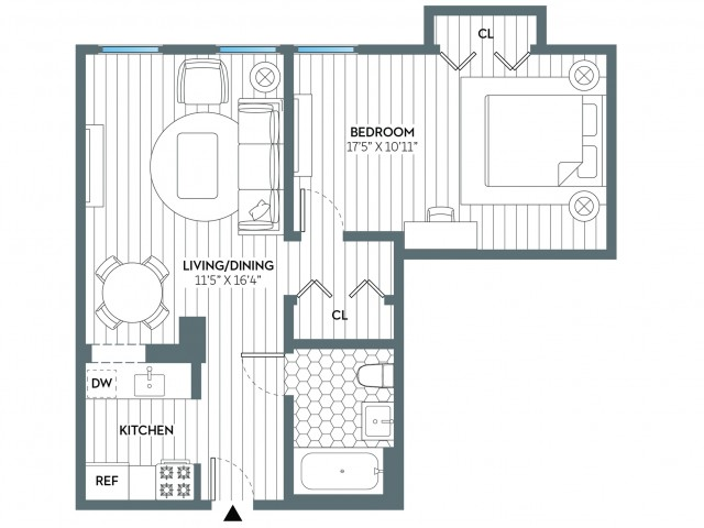 Jackson | 1 bed 1 bath | from 630 square feet