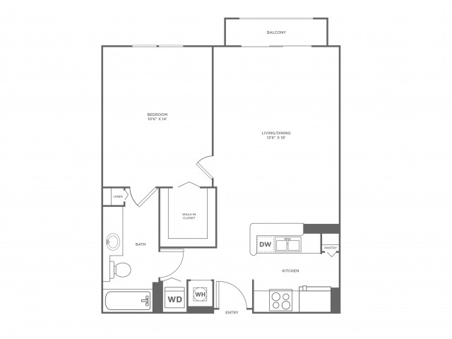 Sun | 1 bed 1 bath | from 756 square feet