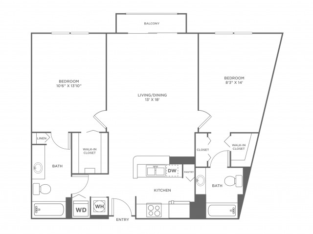 Dune | 2 bed 2 bath | from 1067 square feet