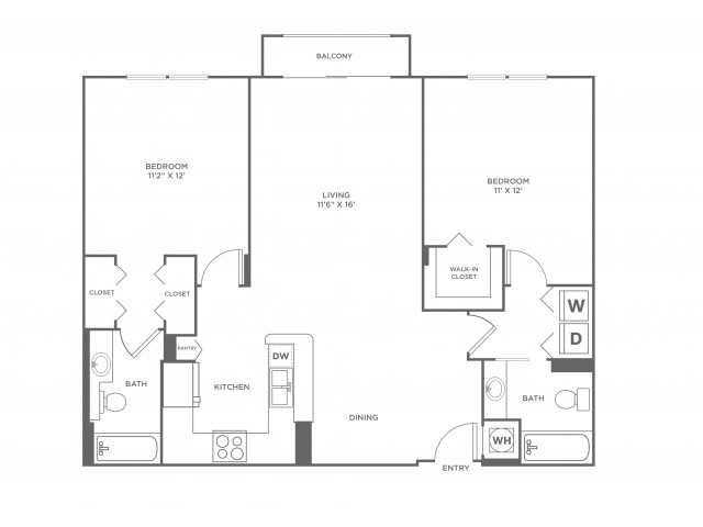 Wave | 2 bed 2 bath | from 1120 square feet
