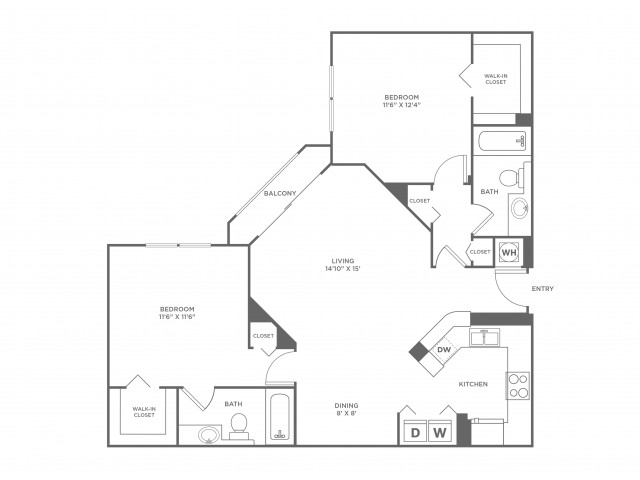 Sea | 2 bed 2 bath | from 1130 square feet
