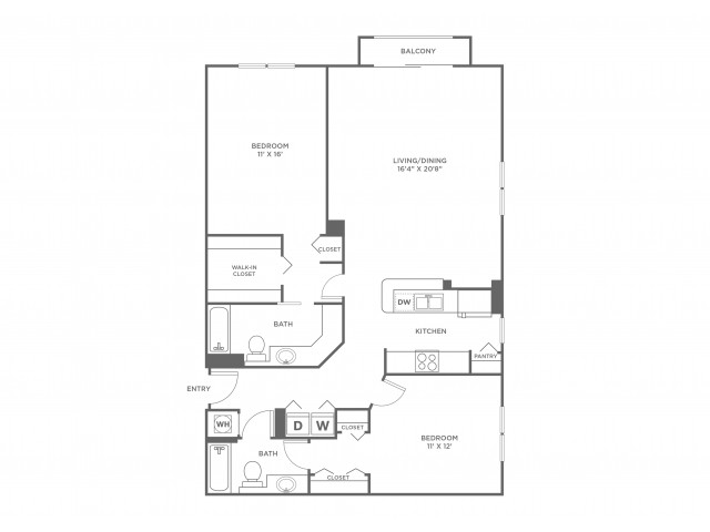Ocean | 2 bed 2 bath | from 1357 square feet