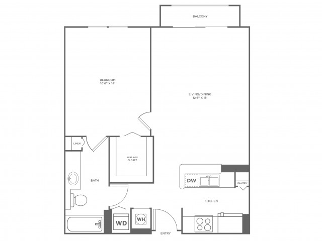 Sun - Platinum | 1 bed 1 bath | from 756 square feet