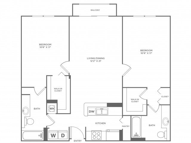Sky - Platinum | 2 bed 2 bath | from 1239 square feet