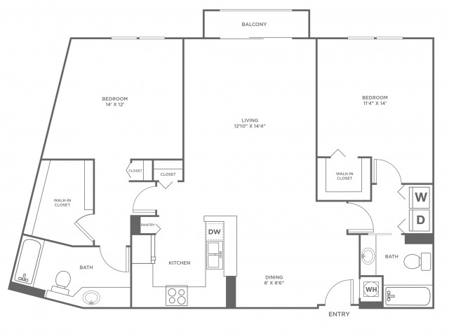 Sand - Diamond | 2 bed 2 bath | from 1246 square feet