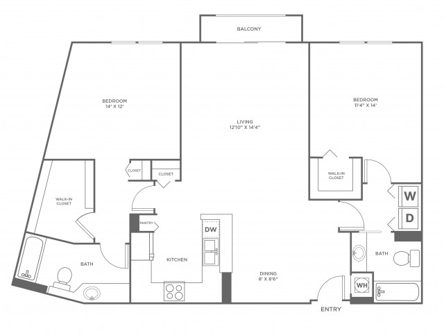 Sand - Platinum | 2 bed 2 bath | from 1246 square feet