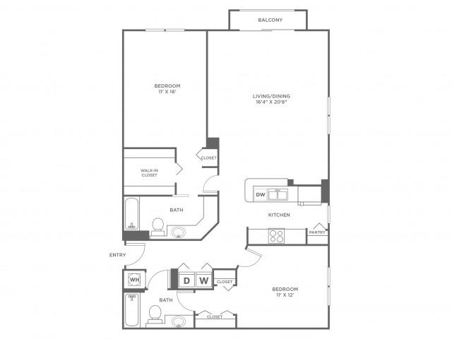 Ocean - Platinum | 2 bed 2 bath | from 1357 square feet