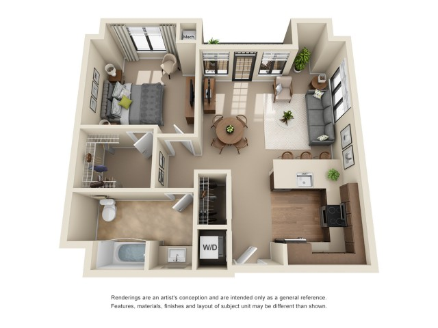 A10 | 1 bed 1 bath | from 867 square feet