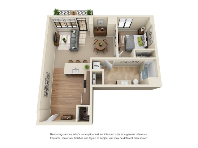 A7 | 1 bed 1 bath | from 787 square feet