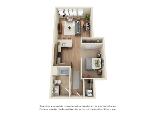 SP7 | Studio1 bath | from 726 square feet